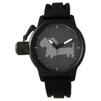 Masculine Gray Dachshund Wiener Dog Watch