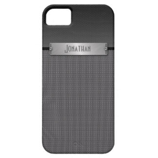 Masculine Gray Metal Chain Look Monogram iPhone 5 Cases