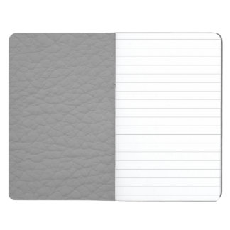 Masculine Gray Retro Grunge Custom Leather Journal