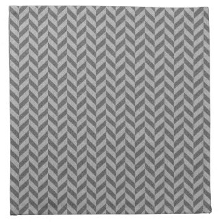 Masculine Herringbone Chevrons Pattern in Greys Napkin