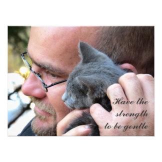 Masculine Kitten Love Photo