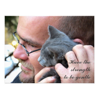 Masculine Kitten Love Photograph