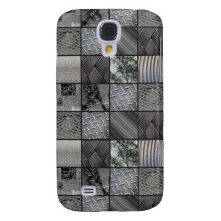 Masculine Monochrome Mosaic Tiled Pattern Galaxy S4 Case