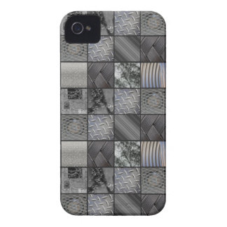 Masculine Monochrome Mosaic Tiled Pattern iPhone 4 Cover