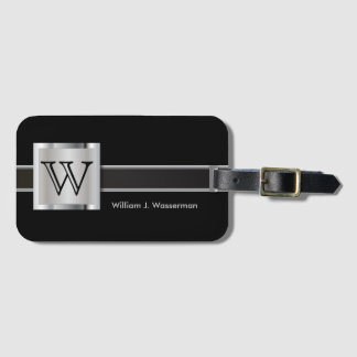 Masculine Monogram Executive Style Luggage Tag