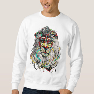 "Masculine Suéter ""Colorful Lion "" Sweatshirt"