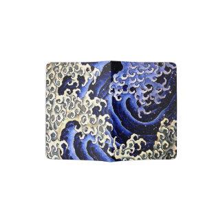 Masculine Wave (Detail) by Hokusai Passport Holder