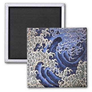 Masculine Wave Hokusai Refrigerator Magnet