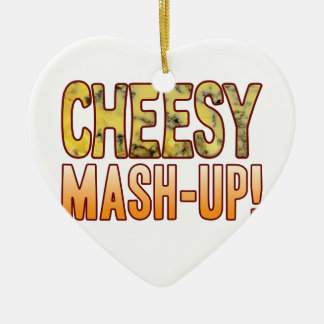 Mash-Up Blue Cheesy Ceramic Heart Decoration