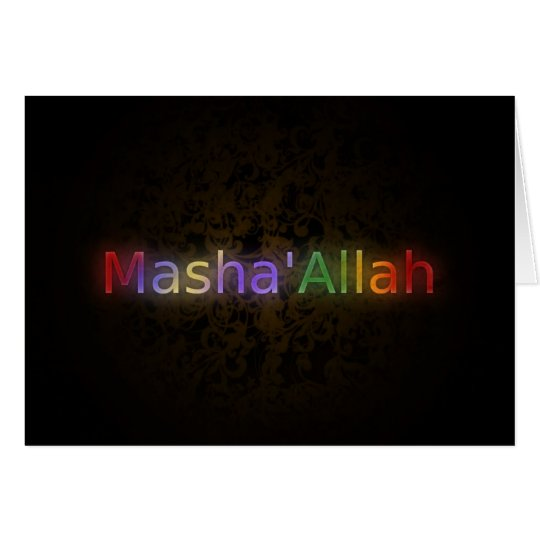 Mashaallah islamic phrase best wishes greeting card zazzle mashaallah islamic phrase best wishes greeting card m4hsunfo