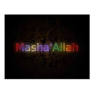 MashaAllah - Islamic phrase - best wishes greeting Postcard