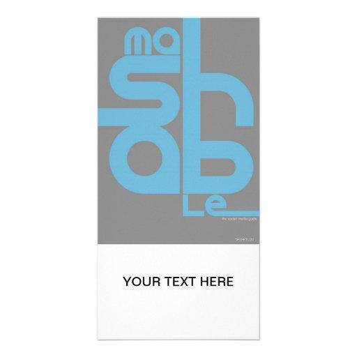 Mashable Personalized Photo Card