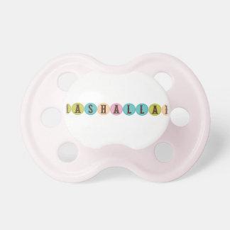 Mashallah islam muslim baby pink pacifier