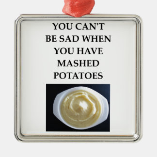 MASHED potatoes Silver-Colored Square Decoration
