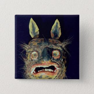 Mask 15 Cm Square Badge
