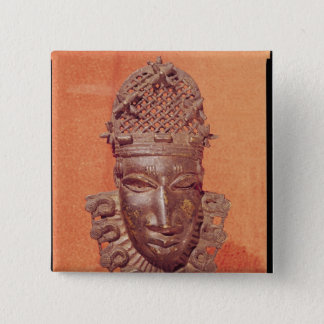 Mask, Benin 15 Cm Square Badge