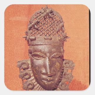 Mask, Benin Square Sticker