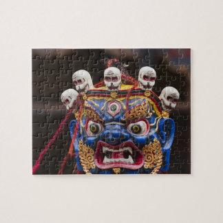 Mask dance performance at Tshechu Festival 2 Jigsaw Puzzle