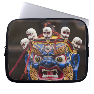 Mask dance performance at Tshechu Festival 2 Laptop Sleeve