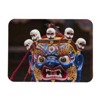 Mask dance performance at Tshechu Festival 2 Magnet