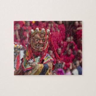 Mask dance performance at Tshechu Festival 3 Jigsaw Puzzle