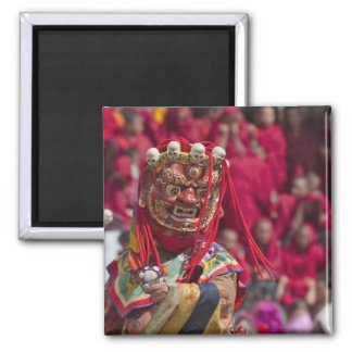Mask dance performance at Tshechu Festival 3 Magnet
