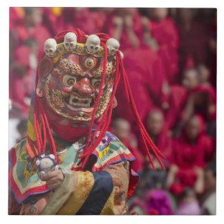 Mask dance performance at Tshechu Festival 3 Tile