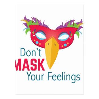 Mask Feelings Postcard
