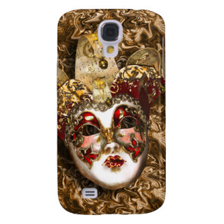 Mask gold red Venetian masquerade Galaxy S4 Case