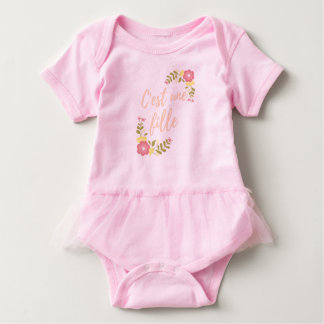 """Mask-layer """"It is a girl """" Baby Bodysuit"""