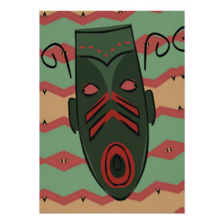 Mask Matisse Style Poster