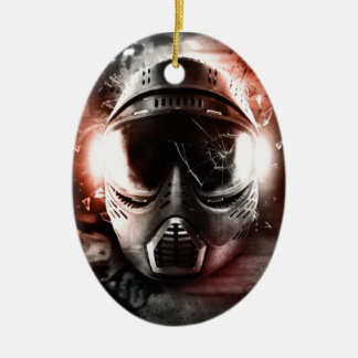 Mask of Action Paintball M-2 Christmas Ornament