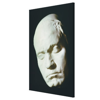 Mask of Beethoven,taken from life at the age of Canvas Print