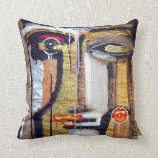 mask of night skies throw cushion