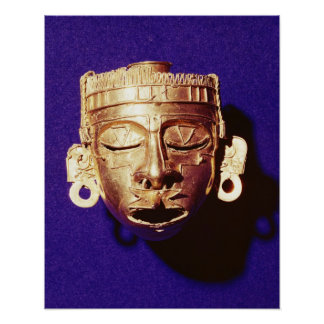 Mask of the god Xipe Totec Poster