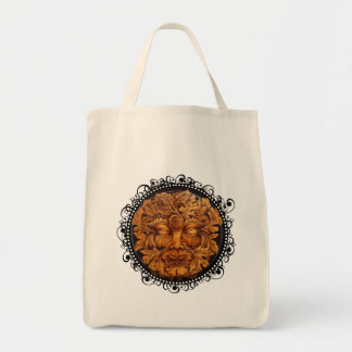 Mask of the Green Man - Grocery Tote