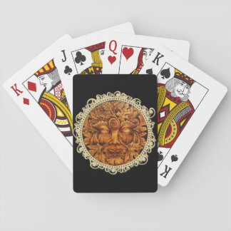Mask of the Green Man Playing Cards - Black