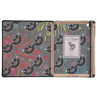 Mask party 3 iPad folio case