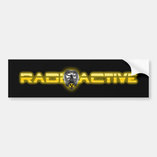 Mask Radioactive V2 Bumper Sticker