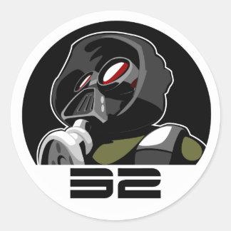 mask shirt classic round sticker