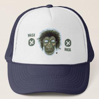 Mask - Vampire Zombie Monster Logo Lite Blue Trucker Hat