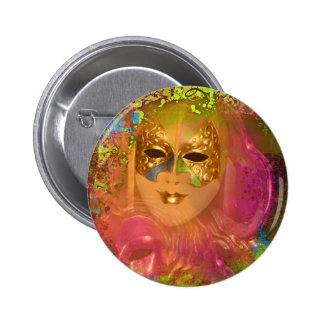 Mask venetian masquerade costume party pinback buttons
