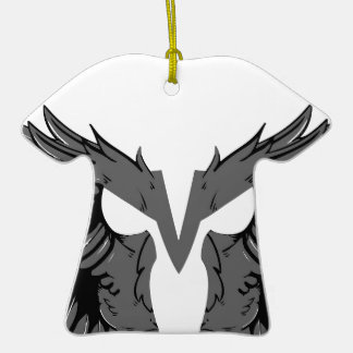 Mask with wings ceramic T-Shirt ornament