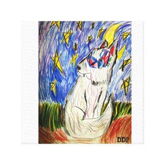 mask wolf canvas print