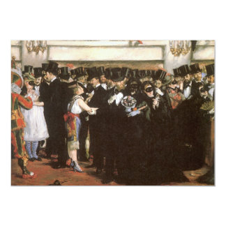 """Masked Ball at the Opera by Manet, Impressionism 5"""" X 7"""" Invitation Card"""