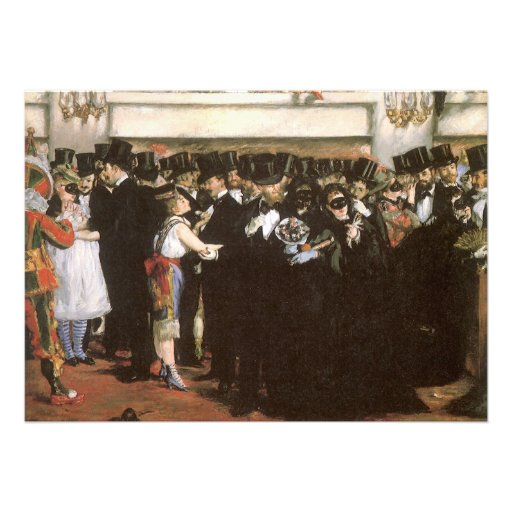 Masked Ball at the Opera, Manet, Vintage Fine Art Cards