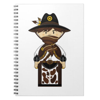 Masked Cowboy Sheriff Notebook