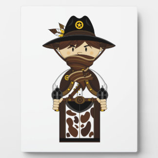 Masked Cowboy Sheriff Plaque