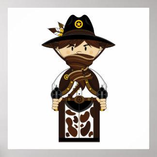 Masked Cowboy Sheriff Print