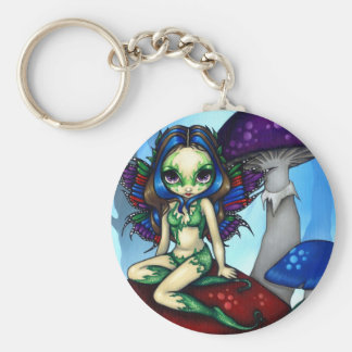 """Masked Fairy on the Mushrooms"" Keychain"
